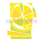 Vector concept summer sun Royalty Free Stock Photos