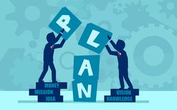 Vector concept of teamwork and partnership stock illustration