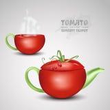 Vector concept tomato teapot Stock Photo