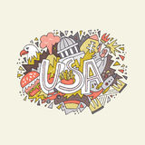 Vector Concept USA vector illustration