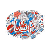 Vector Concept USA royalty free illustration