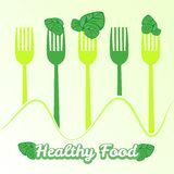 Vector concept vegetarian illustration with forks Stock Photos