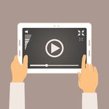 Vector concept of video player mobile application Stock Image
