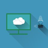 Vector concept of wireless cloud network Stock Photos