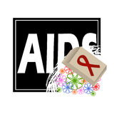 Vector concept on World AIDS Day. AIDS awareness. Vector poster about care and communication with with people with AIDS. Abstract vector concept on World AIDS Royalty Free Stock Photo
