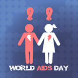 Vector concept on World AIDS Day. AIDS awareness. Vector poster about care and communication with people with AIDS. Vector concept on World AIDS Day. The emblem Royalty Free Stock Photos