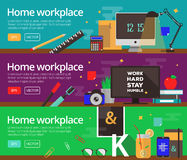 Vector concepts of home workplace design Royalty Free Stock Photo