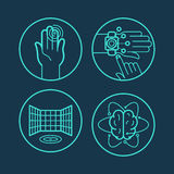 Vector concepts and icons in linear style Stock Photo