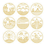 Vector concepts linear icons or badges and design Stock Photo