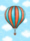 Vector conceptual art of hot air balloon. Concept of travel around the world. Vector conceptual art of hot air balloon. Concept of travel around world Stock Photo