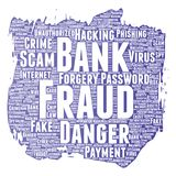 Vector bank fraud payment scam danger Royalty Free Stock Image