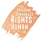 Vector human rights political freedom democracy Royalty Free Stock Photo