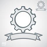 Vector conceptual industry system design element, cog wheel, gea Royalty Free Stock Photo