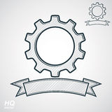 Vector conceptual industry system design element, cog wheel, gea Royalty Free Stock Photo