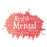 Vector mental health or positive thinking Royalty Free Stock Photo
