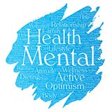 Vector mental health positive thinking Stock Image