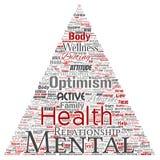 Vector mental health positive thinking triangle arrow Stock Image