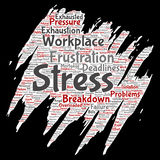 Vector conceptual mental stress at workplace Royalty Free Stock Photography