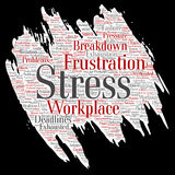 Vector conceptual mental stress at workplace Stock Photography