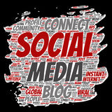 Vector  social media networking or communication Stock Photography