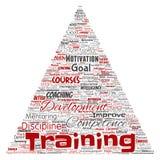 Vector training, coaching learning, study royalty free illustration