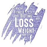 Vector weight loss healthy diet transformation Royalty Free Stock Photography