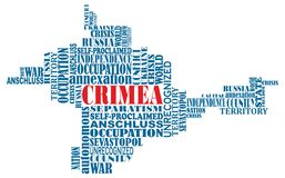Vector conceptual word map of Crimea, ukrainian te Royalty Free Stock Image
