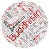Vector conceptueel boeddhisme, meditatie, verlichting, karma vector illustratie