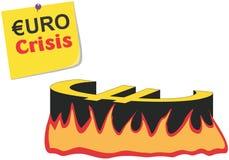 Vector conceptuele euro/de crisisillustratio van Griekenland Royalty-vrije Stock Afbeelding