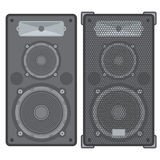 Vector concert speakers Royalty Free Stock Photography