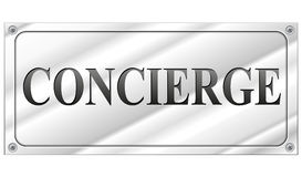 Vector concierge sign Royalty Free Stock Image