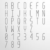 Vector condensed monospaced font Stock Photo