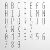 Vector condensed monospaced font vector illustration