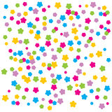 Vector confetti. An illustration of colourful flower rain on white isolated background Stock Photo