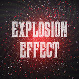 Vector Confetti Explosion Effect on Dark Outer Space Background. Stock Photography