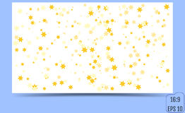 Vector Confetti Star Background. Format 16:9. Vector illustration Royalty Free Stock Photos