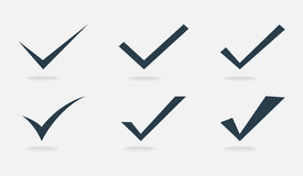 Vector confirm icons set Stock Photography