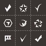 Vector confirm icons set Royalty Free Stock Photography