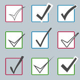 Vector confirm icons set. Yes icon. Check Mark Stock Image