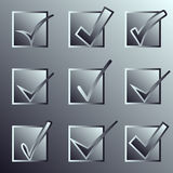 Vector confirm icons set. Yes icon. Check Mark Royalty Free Stock Image