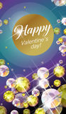 Vector Congratulation Card For Valentine S Day. Royalty Free Stock Image