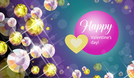 Vector congratulation card for Valentine's day. Royalty Free Stock Photos