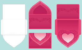 Vector congratulation envelope. Scheme and scan Stock Images