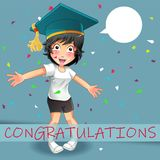Vector congratulations concept. royalty free illustration