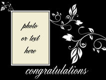 Vector - Congratulations portrait frame Stock Photos