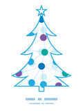 Vector connected dots Christmas tree silhouette Stock Photo