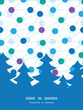 Vector connected dots Christmas tree silhouette Stock Photography
