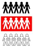 Vector - Connecting People. 4 types of Connecting people vector illustration