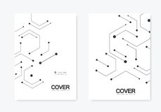 Vector connection and social network. Hexagons technology pattern stock illustration