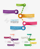Vector connection theme keyword infographic Stock Photos